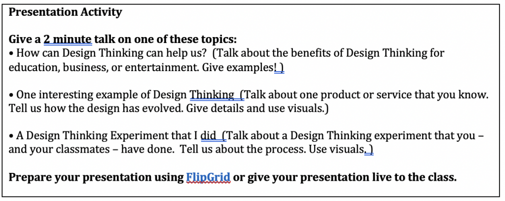 , Ways to support student presentations, Lateral Communications